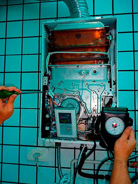 Manutenção de aquecedor